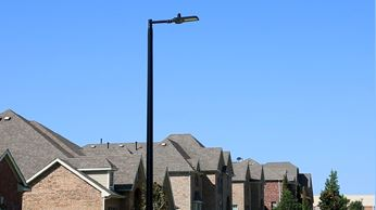 Photo of LED Streetlight in a neighborhood
