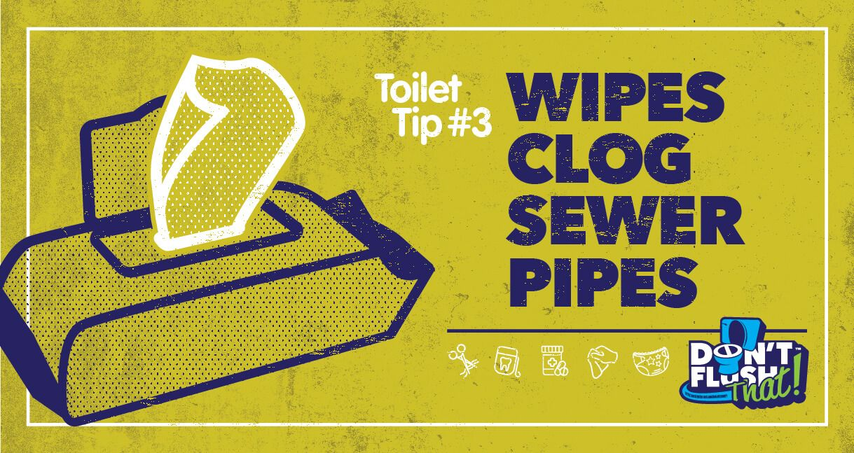 Don't Flush That! Wipes Clog Sewer Pipes!
