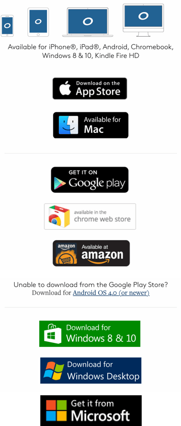 OverDrive - picture of all app logos