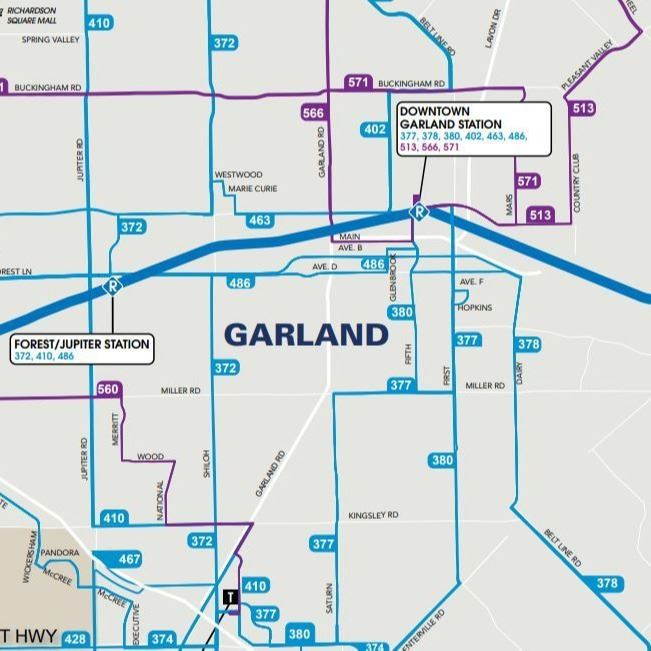 DART bus routes for Garland thumbnail